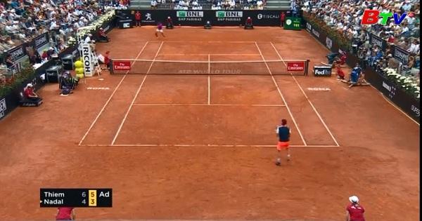 Rafael Nadal bị loại khỏi tứ kết giải quần vợt Italia mở rộng