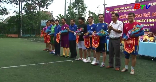 Giải bóng đá Mini kỷ niệm 128 năm ngày sinh nhật Bác