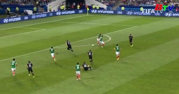 Lượt trận thứ hai Bảng A Confederations Cup 2017- Mexico 2-1 New Zealand