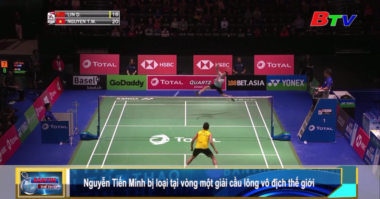 Nguyễn Tiến Minh bị loại tại vòng một giải cầu lông vô địch thế giới