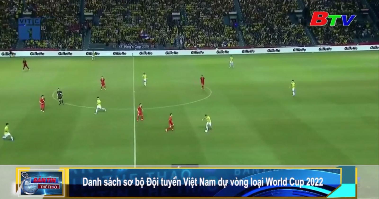 Danh sách sơ bộ đội tuyển Việt Nam dự vòng loại World Cup 2022