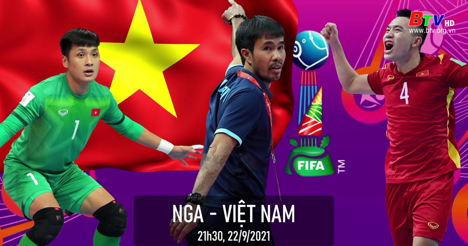 Futsal Việt Nam đón tin vui trước trận gặp đội tuyển Nga
