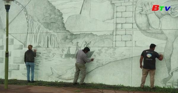 Bức tranh tường được vẽ bằng chì lớn nhất thế giới