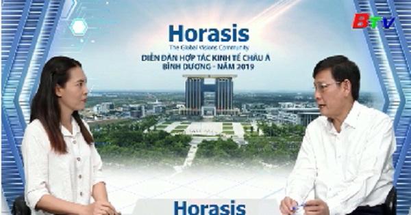 Cuộc trao đổi giữa phóng viên với Ông Mai Hùng Dũng - Trưởng ban tổ chức Horasis Bình Dương 2019 trước khi sự kiện Horasis diễn ra