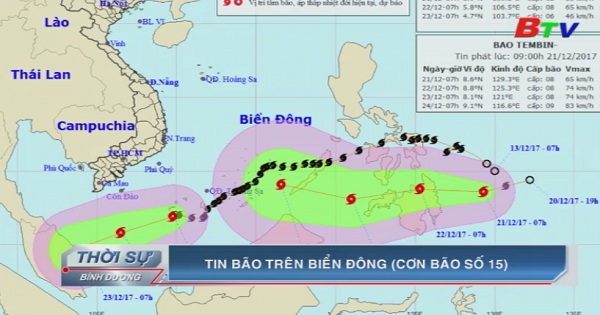 Tin bão trên biển Đông - Cơn bão số 15