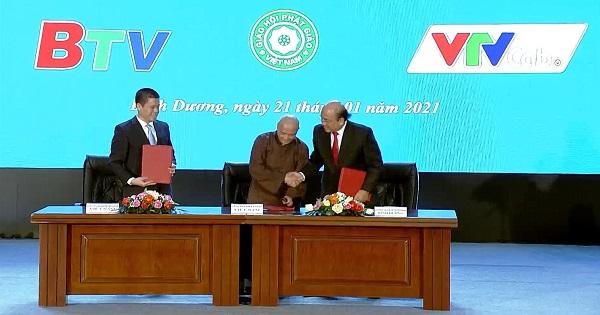 Lễ ký kết hợp tác giữa BTV - VTV Cap và Giáo hội Phật giáo Việt Nam