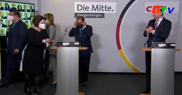 CDU của Đức chính thức xác nhận ông Armin Laschet đắc cử chủ tịch