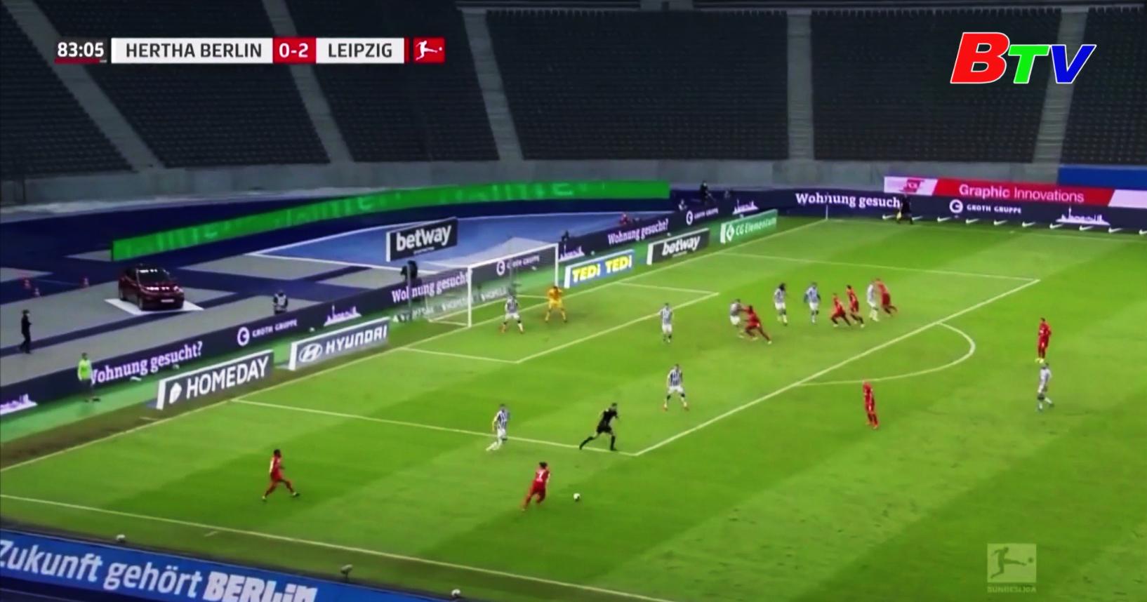 Vòng 22 giải Bundesliga – Hertha Berlin 0-3 Leipzig