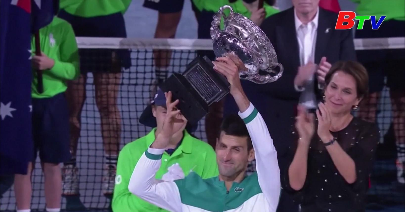 Novak Djokovic lần thứ 9 vô địch Giải quần vợt Australia mở rộng