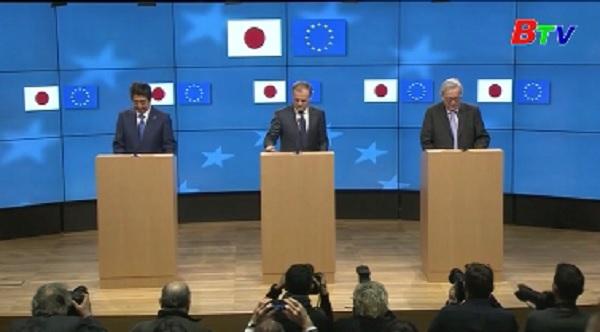 EU và Nhật Bản thúc đẩy tự do thương mại