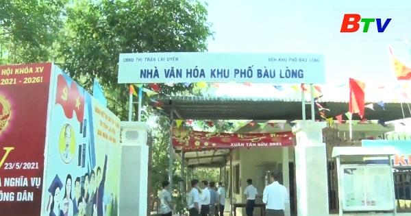 Huyện Bàu Bàng khảo sát các địa điểm bỏ phiếu bầu cử
