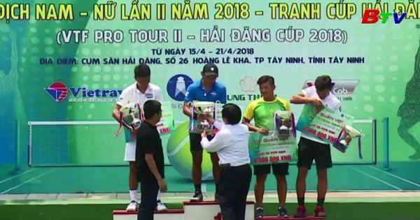 Hoàng Nam vô địch Giải quần vợt VTF Pro Tour II - 2018