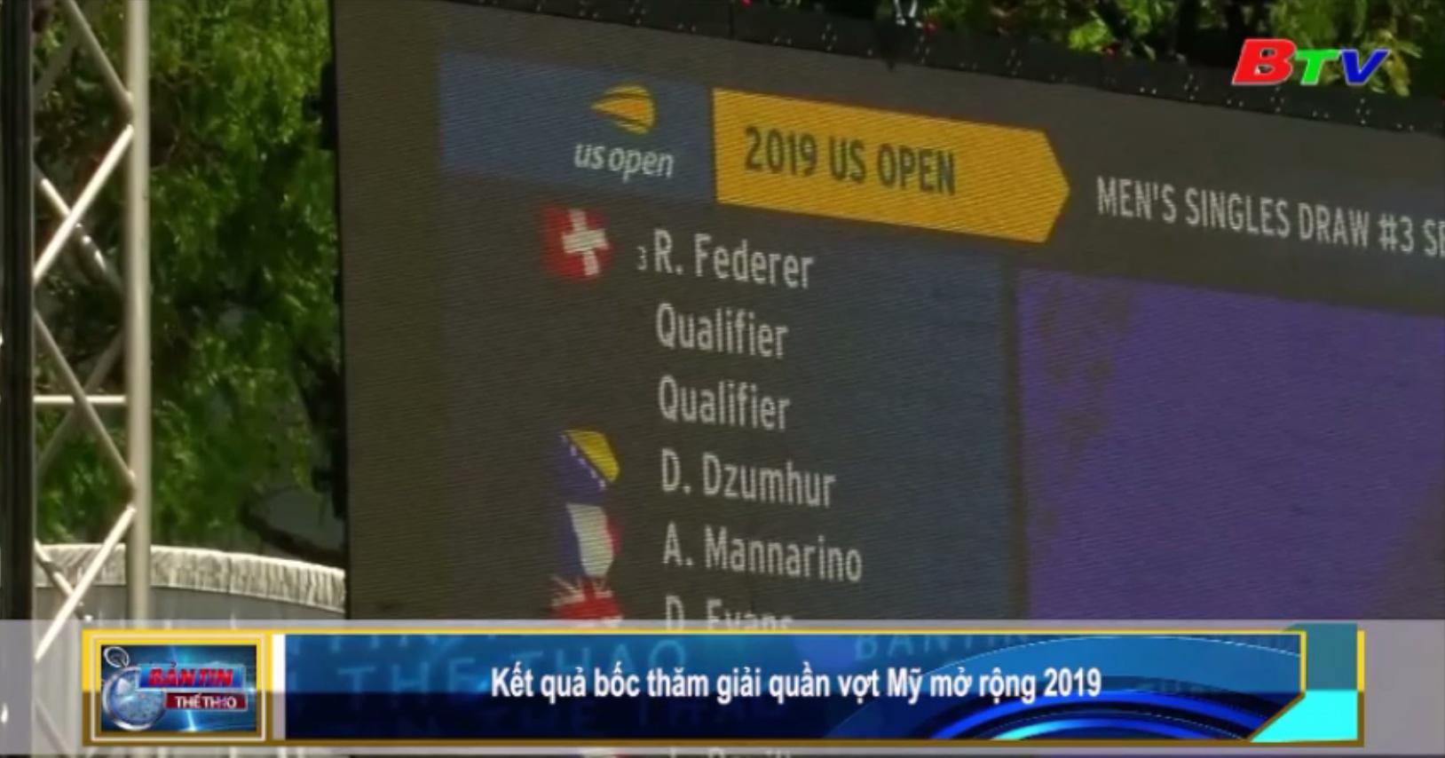 Kết quả bốc thăm Giải quần vợt Mỹ mở rộng 2019