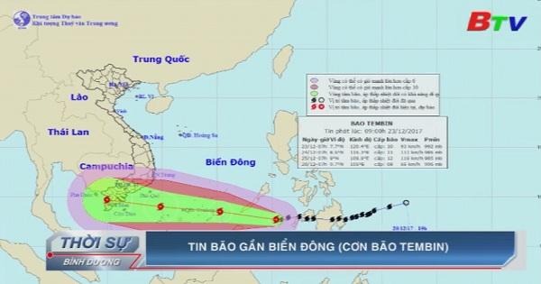 Tin bão gần biển Đông (Cơn bão TEMBIN)