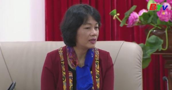 Lãnh đạo tỉnh Bình Dương tiếp đại sứ Việt Nam tại Singapore