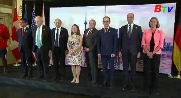 Ngoại trưởng các nước G7 lên án cách hành xử của Nga