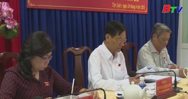 HĐND tỉnh Bình Dương giám sát công tác quản lý nhà nước về đất đai tại Tân Uyên