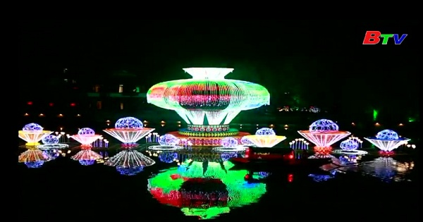Thị trấn Đài Nhi Trang thắp đèn lồng dịp tết trung thu