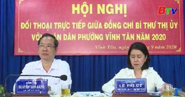 Bí thư Thị ủy Tân Uyên đối thoại với nhân dân phường Vĩnh Tân