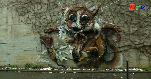 Bordalo II - Nghệ sĩ có tài biến rác thải thành các con vật ngộ nghĩnh