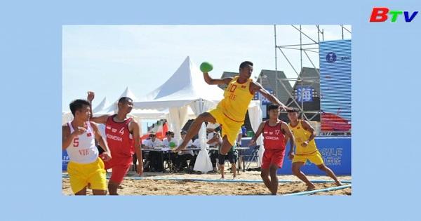 Đội tuyển bóng ném bãi biển nam Việt Nam dừng bước ở bán kết