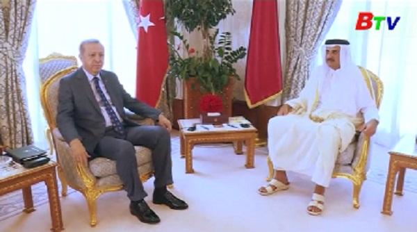 Tổng thống Thổ Nhĩ Kỳ tới Qatar