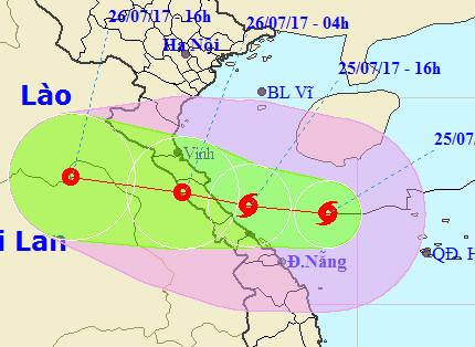Bão số 4 áp sát các tỉnh Nghệ An, Hà Tĩnh, Quảng Bình