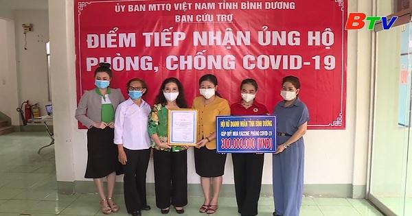 Hội nữ doanh nhân tỉnh Bình Dương tích cực ủng hộ phòng, chống dịch bệnh