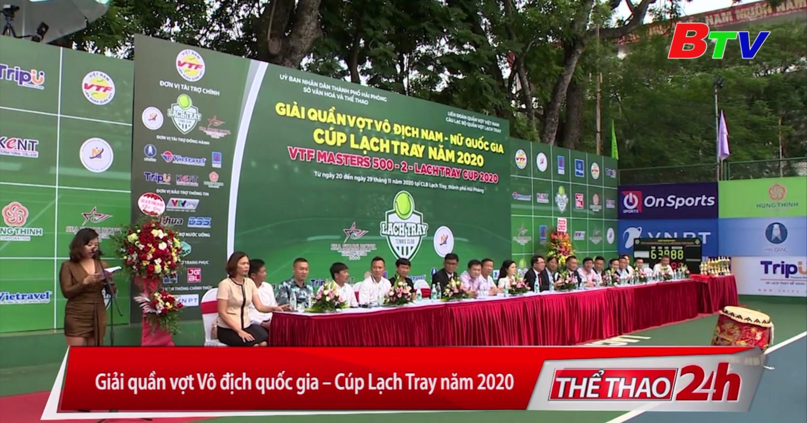 Giải quần vợt vô địch Quốc gia - Cúp Lạch Tray năm 2020
