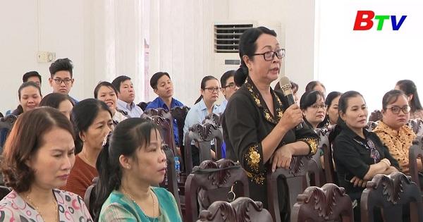 Đại biểu Quốc hội tỉnh Bình Dương tiếp xúc cử tri thành phố Dĩ An