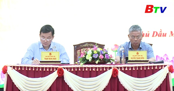Đại biểu Quốc hội tỉnh Bình Dương tiếp xúc cử tri thành phố Thủ Dầu Một