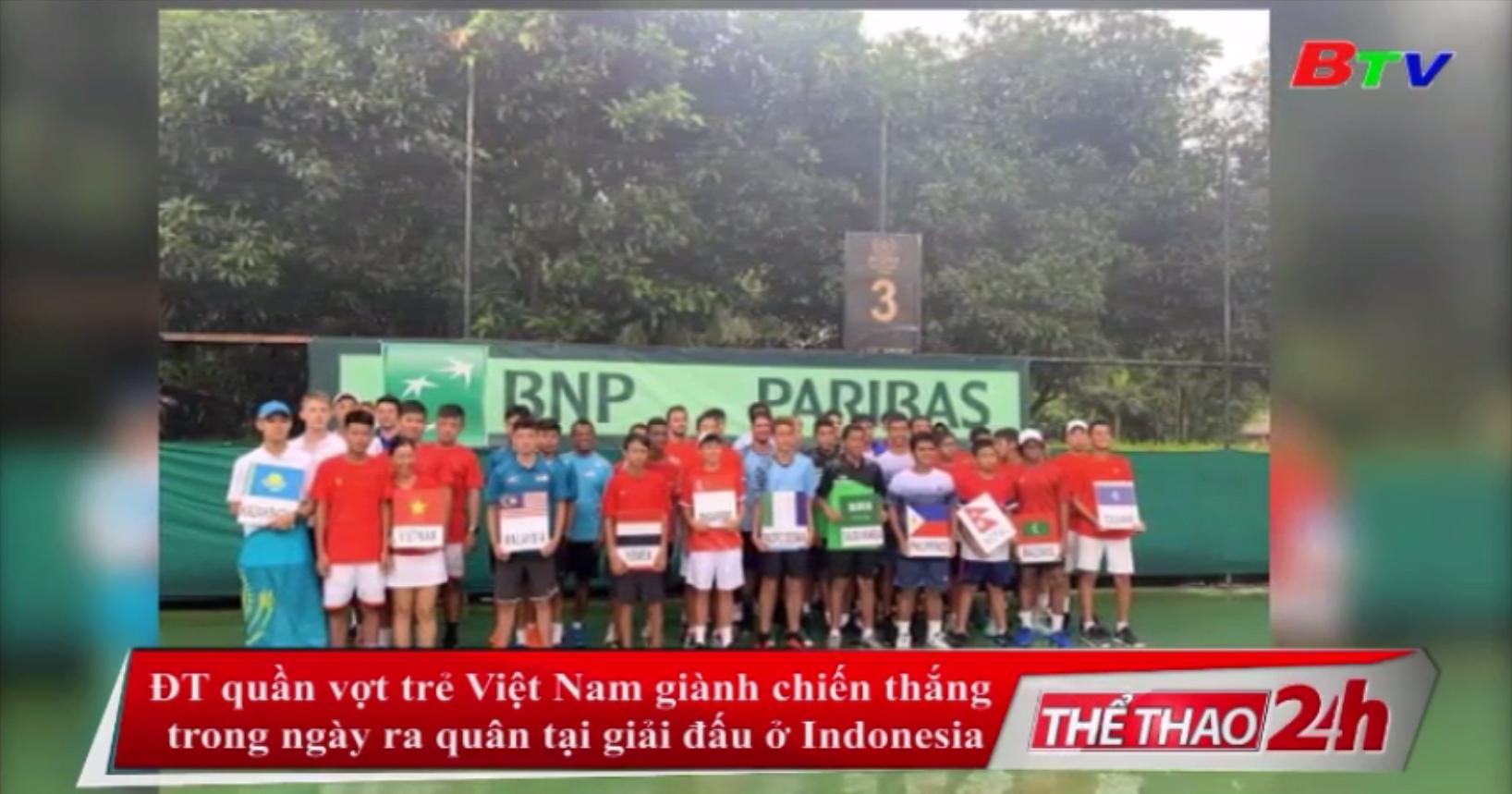 ĐT quần vợt trẻ Việt Nam giành chiến thắng trong ngày ra quân