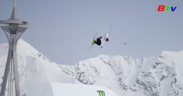 Vận động viên người Mỹ thiết lập kỷ lục về độ cao cú trượt tuyết nửa lòng máng
