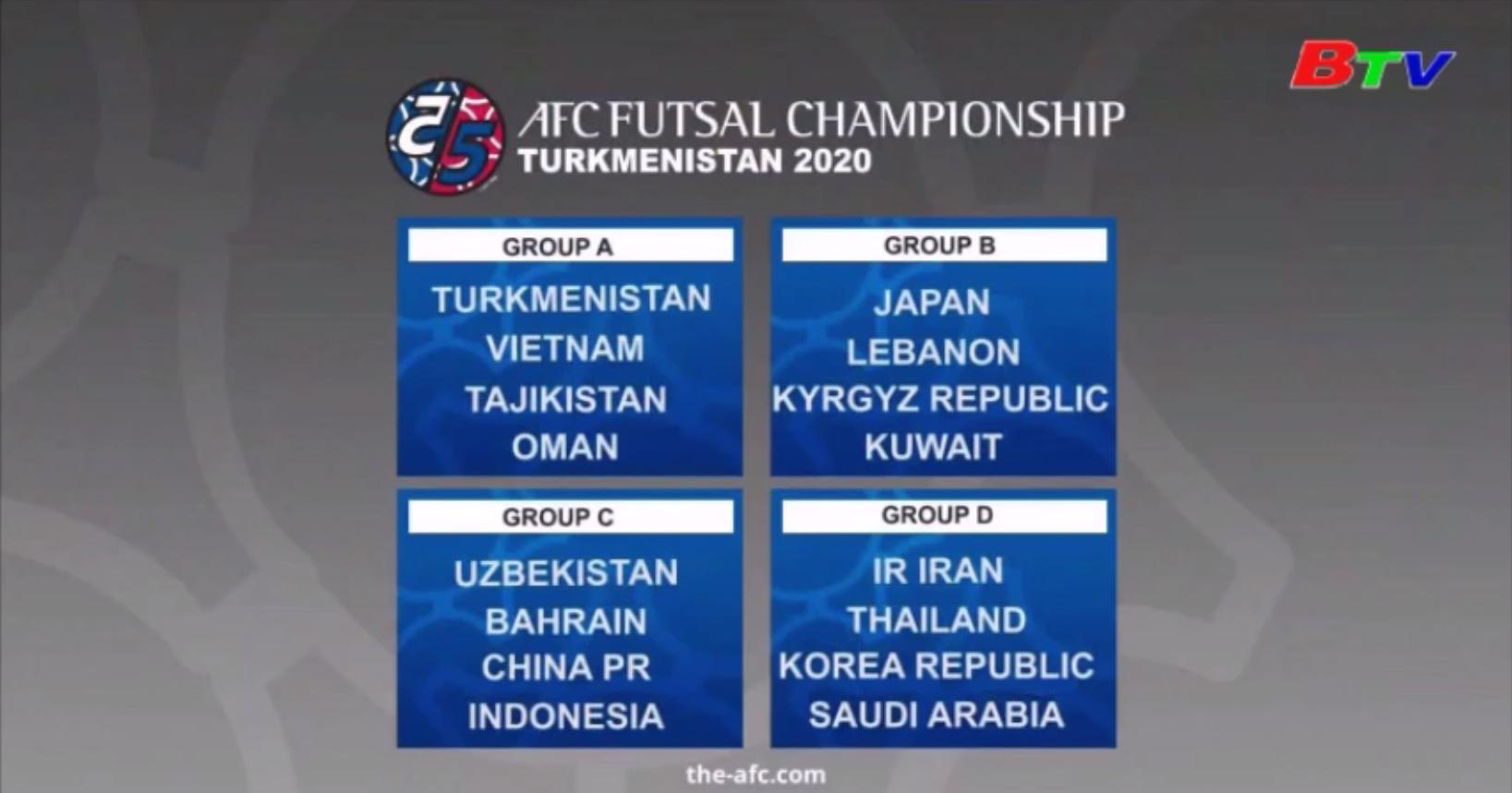 Chốt thời gian tổ chức VCK Futsal châu Á 2020