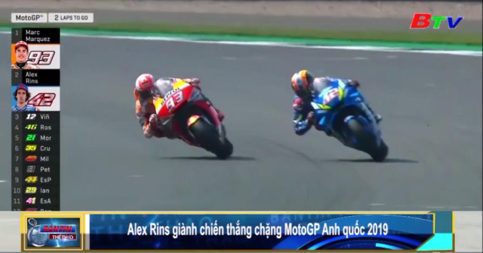 Alex Rins giành chiến thắng chặng MotoGP Anh quốc 2019