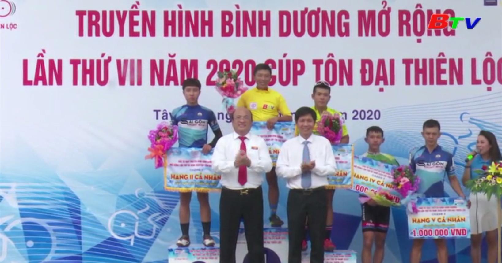 Kết quả Chặng 3 Giải Xe đạp Truyền hình Bình Dương mở rộng lần VII năm 2020 - Cúp Tôn Đại Thiên Lộc