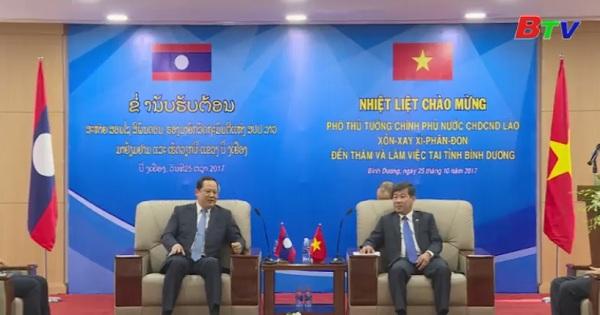 Phó Thủ tướng Chính phủ nước Công hòa Dân chủ Nhân dân Lào thăm và làm việc tại Bình Dương