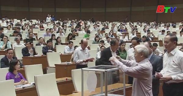 Quốc hội tiến hành công tác nhân sự vị trí bộ trưởng Bộ Giao thông Vận tải và Tổng Thanh tra Chính phủ