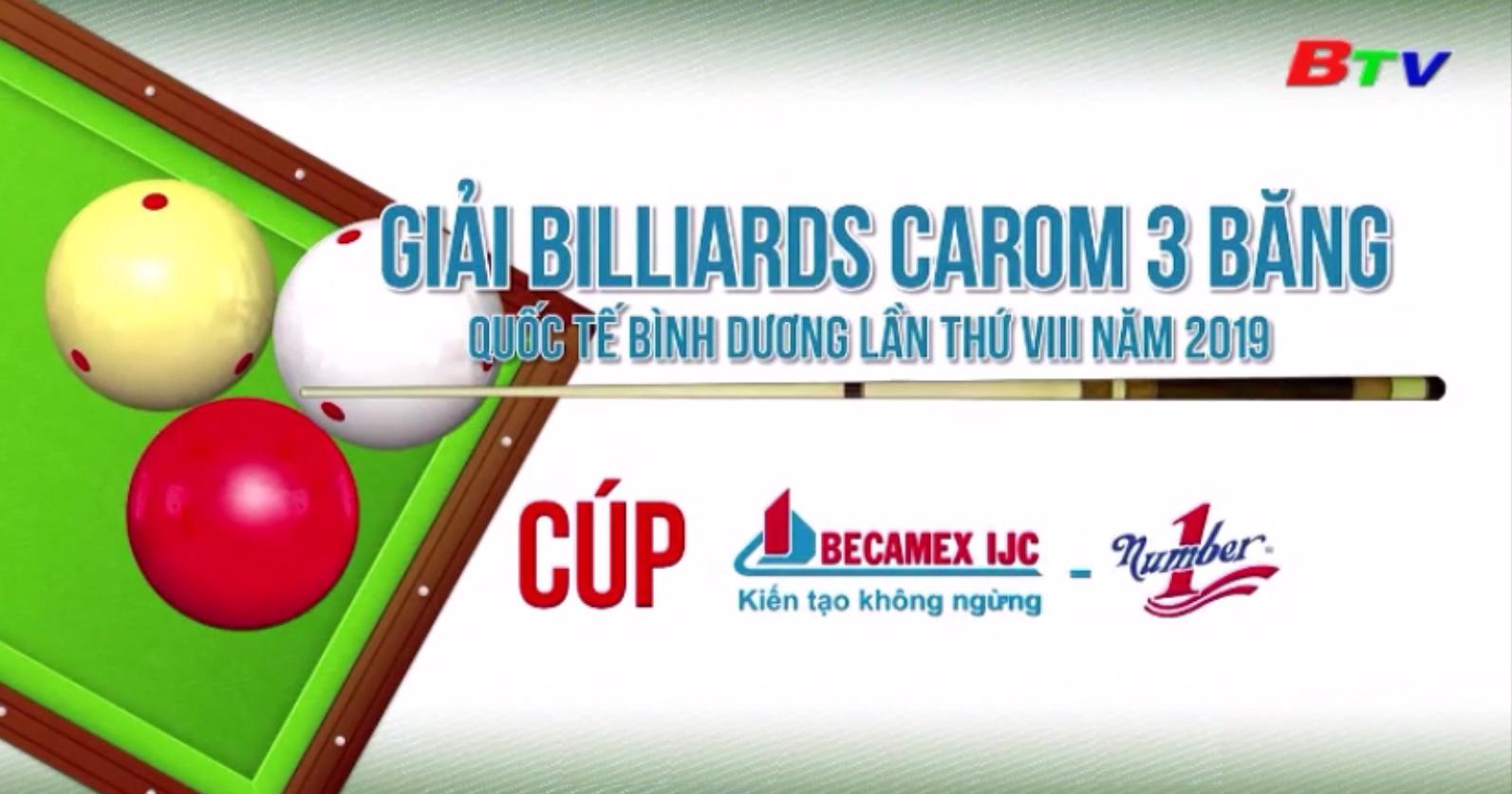 Những đường cơ đẹp tại Giải Billiards Carom 3 băng Quốc tế Bình Dương lần VIII năm 2019