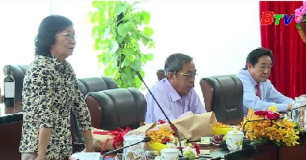 Tỉnh ủy Bình Dương gặp mặt các ban liên lạc truyền thống kháng chiến