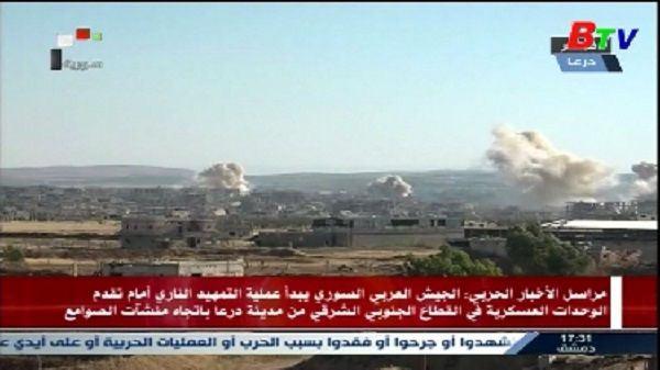 Quân đội Syria bắt đầu không kích lực lượng nổi dậy tại Deraa