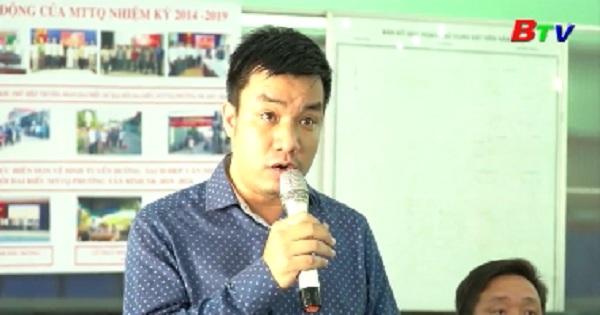 Đại biểu Quốc hội tỉnh tiếp xúc cử tri phường Tân Bình, Bình An, thị xã Dĩ An