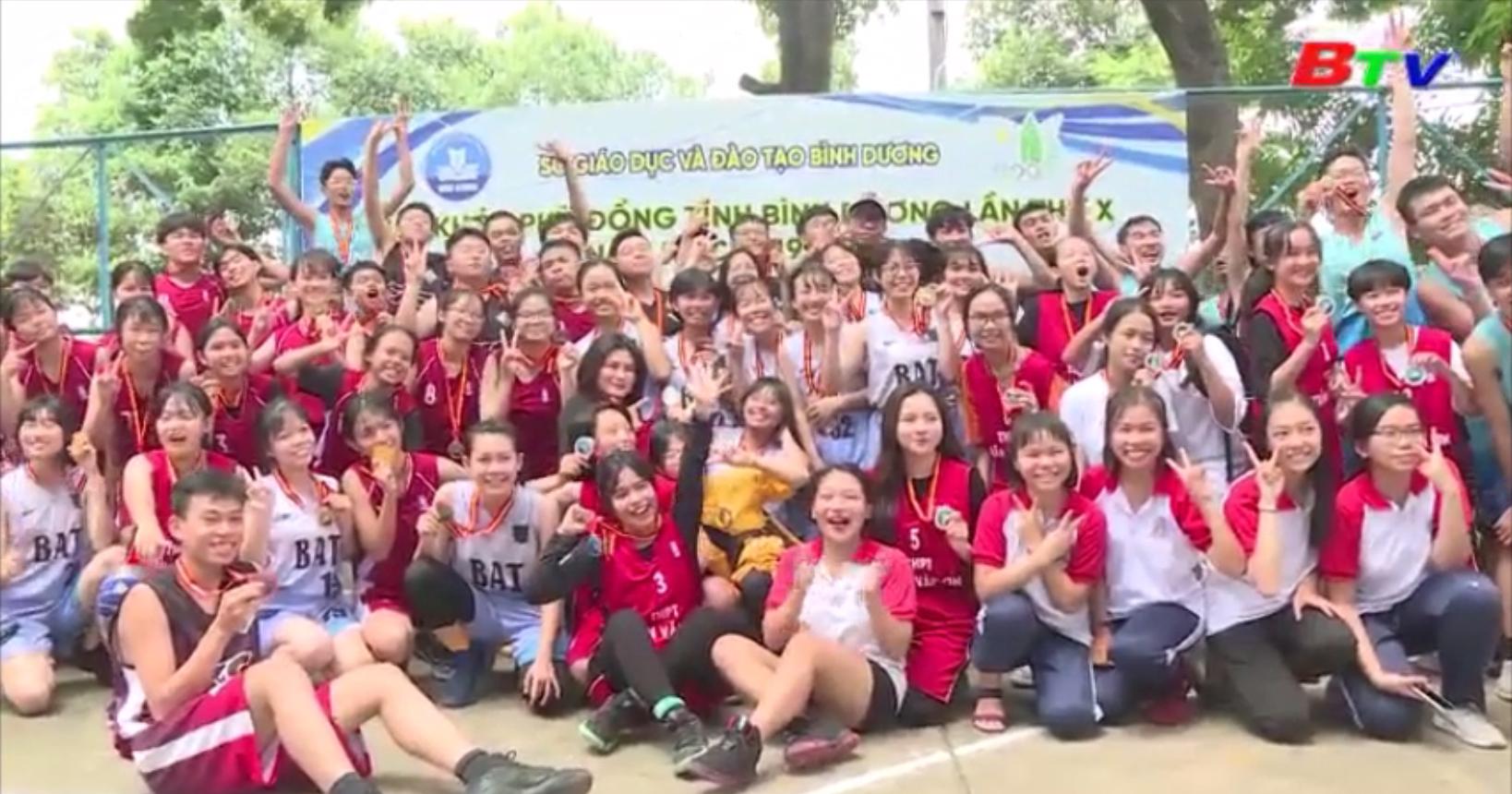 Kết thúc môn bóng rổ HKPĐ tỉnh Bình Dương lần X năm học 2019-2020