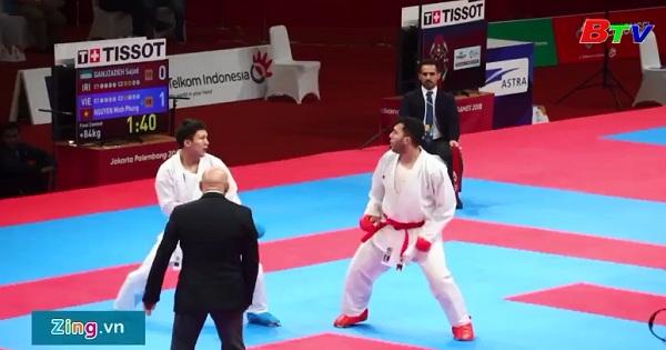 Nguyễn Minh Phụng xuất sắc giành tấm HCB Karatedo nội dung đối kháng trên 84kg nam tại Asiad 2018