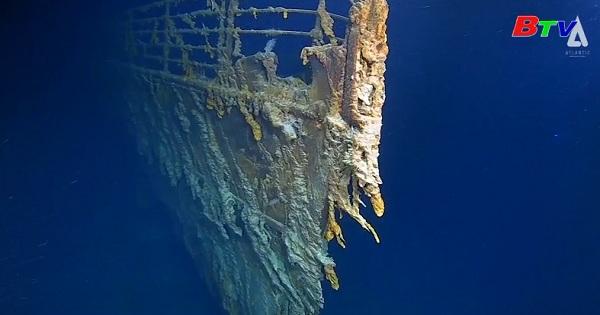 Những hình ảnh mới về xác tàu Titanic