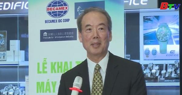 Lãnh đạo tỉnh tiếp viện nghiên cứu ITRI - Đài Loan và khai trương máy quảng cáo thế hệ mới