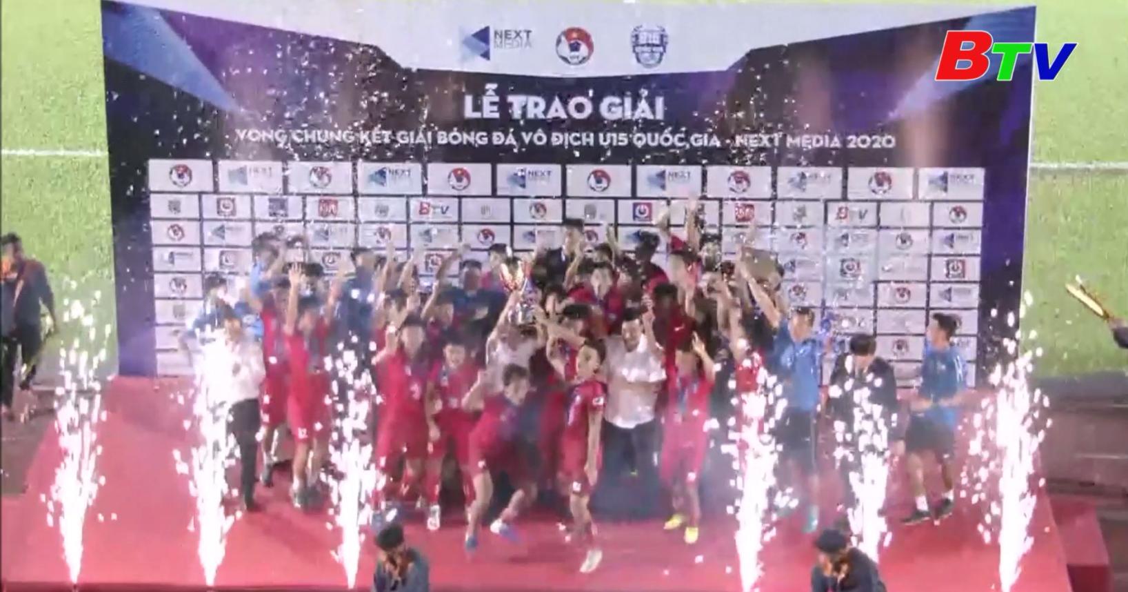 U15 PVF đăng quang ngôi vô địch Giải bóng đá U15 Quốc gia - Next Media 2020