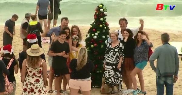 Mừng giáng sinh trên bãi biển Bondi