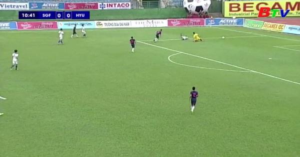Giải bóng đá Quốc tế Truyền hình BD lần thứ XIX Cúp Nuber 1 : Đại học Hanyang 1-1 CLB Sài Gòn