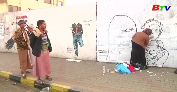 Trẻ em của Yemen lên tranh tường